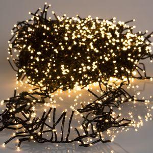 Lumineo LED Lichterkette Cluster 120 cm 144 Lichter warmweiß Timer und Dimmer IP44 Innen und Außen