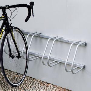karpal Fahrradstaender, Aufstellstaender fuer 4 Fahrraeder, Fahrrad Staender Boden Wand Montage Metall Platzsparend