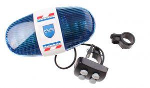 Toi-Toys Fahrradlicht mit der Polizei Sirene Deutsch blau