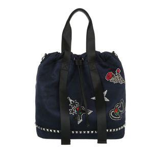 Ital-Design Damen Taschen Beuteltaschen Dunkelblau