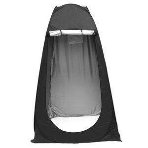 Duschzelt Pop Up Zelt Camping Umkleidezelt Umziehzelt Faltzelt Outdoor Umkleide -Black