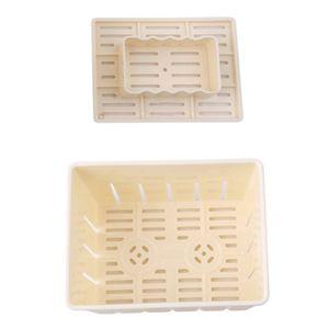 Kunststoff Tofu & Käsepresse Mould Maker hausgemachte machen Form Cutter Box Fall DIY drücken Schimmel Küche Werkzeug (gelb)