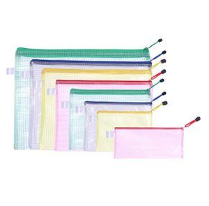 Dokumententasche - mit Reißverschluss - A6, A5, A4, A3, Scheck, B6, B5, B4 - 8 Stück