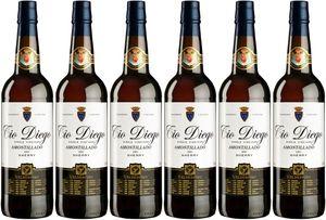 6x Amontillado Tio Diego  – Valdespino Sherry, Jerez-Xèrés-Sherry – Weißwein
