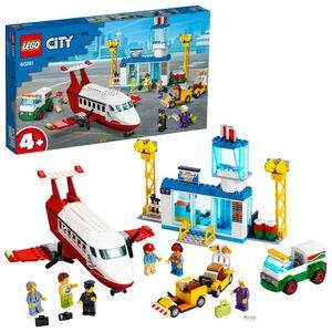 LEGO 60261 City 4+ Flughafen, Spielset mit Flugzeug Spielzeug, Tanklaster und Pilotfigur