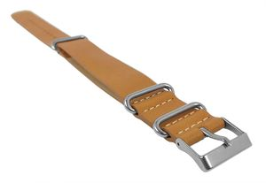 Ersatzband Leder hellbraun 20mm für Timex T2P492 T2P494