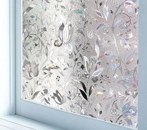 Fensterfolie Selbsthaftend Blickdicht Sichtschutzfolie Fenster 3D 60cm*100cm Sichtschutz Glasfolie Statisch Haftend UV-Schutz