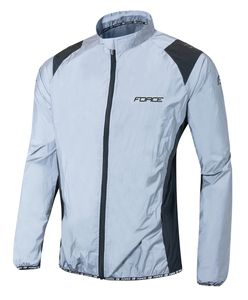 FORCE Fahrrad, Sport, Jogging Jacke hoch reflektierend, Gr. M