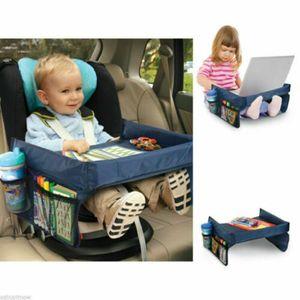 Auto-Kindertisch, Maltisch Reisetisch Spieltisch Knietablett fürs Auto mit 4 Netztaschen, Tischfläche 33 * 40 * 23 cm