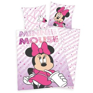 Disney´s Minnie Mouse - Wende-Bettwäsche-Set von Herding, 135x200 & 80x80 cm