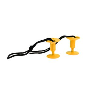 2 Stück Bodyboard Leine Plugs mit Cord Strings , Farbe Gelb