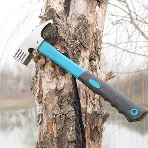 Zelthammer aus Aluminium mit Zelthaken-Entferner, leicht und tragbar für Blau wie beschrieben
