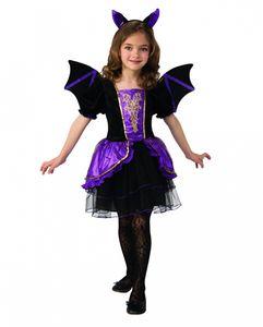 Fledermaus Prinzessin Kinder Kostüm für Halloween und Karneval Größe: S