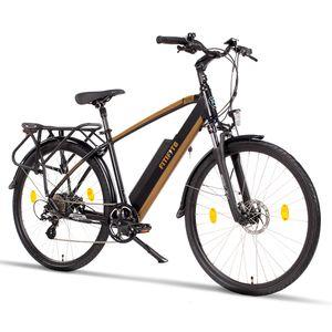 Fitifito CT28M 28 Zoll Elektrofahrrad Citybike E-Bike Pedelec, 48V 250W Heckmotor, 48V 13Ah Samsung Akku, hydraulische Bremsen, gefederte Gabel, 8 Gang Shimano Schaltung schwarzgold
