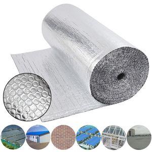 Dripex Isolierfolie Dämmfolie Doppelte Aluminium Folien-Blase Dachisolierung 3-4mm Isolierungsfolie Wärmehaltung (0.6x10m - 6㎡)