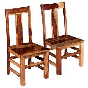 Esszimmerstühle 2-er SET | Wohnzimmerstuhl Küchenstuhl Sessel | Stuhl Küche Esszimmer Retro-Design Massivholz |3286