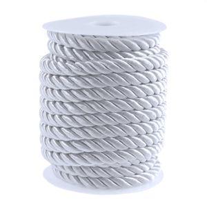 10m Atlaskordel Atlasschnur 10mm glänzend gedreht, Seil Kordel Schnur, Farbwahl , Farbe:weiß