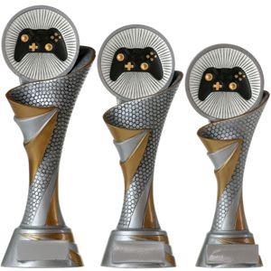 FG Pokal S Esports E-Sport Gamer Trophäe mit Emblem 70 mm