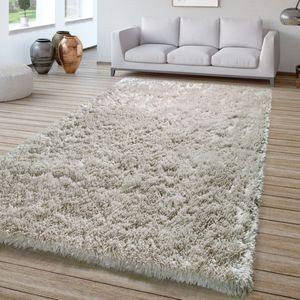 Wohnzimmer Hochflor Teppich Shaggy Sehr Soft Und Weich Unifarben, In Grau, Größe:300x400 cm