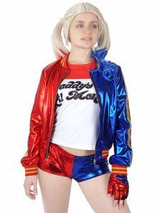 Harley Quinn Kostüm für Suicide Squad Fans   Jacke, Hotpants, T-Shirt & Handschuh   Größe: L