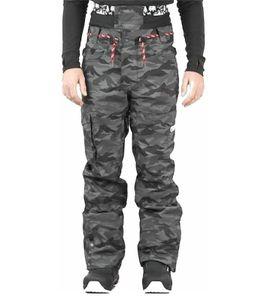 PICTURE Under Pant Ski-Hose modische Herren Snowboard-Hose im Camo-Look Schwarz/Grau, Größe:L