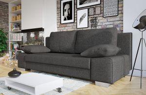 Mirjan24 Sofa Laura, Couch mit Bettkasten und Schlaffunktion, Couchgarnitur, freistehendes Schlafcouch, Schlafsofa vom Hersteller, Polstersofa (Lux 06)