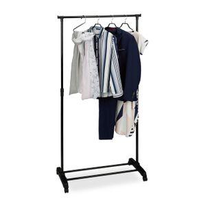 relaxdays Fahrbarer Kleiderständer mit Ablage