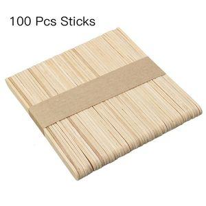 100 Stücke Holz Natürliche Einfach Kunst Holz Handwerk Sticks Kinder Eisstock