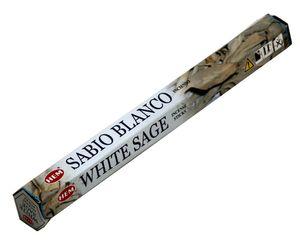 HEM Räucherstäbchen Weißer Salbei 20g Hexa Packung  Ca. 20 Incence Sticks