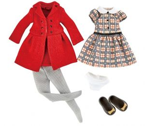 Käthe Kruse Englisches Rose Outfit Teenager-Puppenkleider-Set 5-teilig