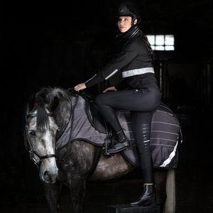 Horseware Amigo Competition Sheet Reflectech - Grey/Black, Größe:L