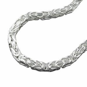 Kette 6mm Königskette vierkant glänzend Silber 925 60cm silber 6x6mm
