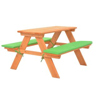 vidaXL Kinder-Picknicktisch mit Bänken 89×79×50 cm Massivholz Tanne