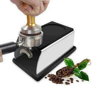 Tamperstation Espresso Stamper Kaffee Tamper Halter aus Edelstahl Base Küche