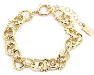 gliederarmband Emma damen 18-22 cm edelstahl gold