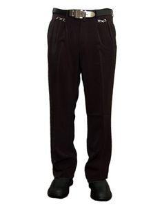 Herren Bundfaltenhose Anzug Herrenhose Schwarz Hose mit Stickerei und Bundfalte Zierketten Gr. 46-60, Größe Hose-Jeans Herren:58-XXL W37, Farbe:Schwarz