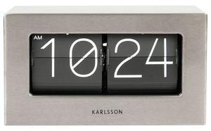 Karlsson uhr Boxed Flip20,5 x 11,5 x 7 cm grau