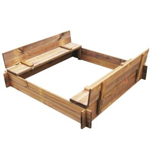 dereoir Sandkasten Holz Imprägniert Quadratisch