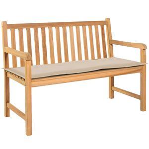 Gartenbank-Auflage Garten-Sitzkissen Cremefarben 120×50×3 cm