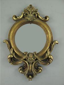Spiegel, Wandspiegel mit Floral Nachbildung im Barock-Stil, antik Goldfarben