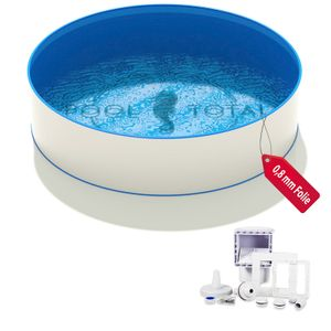 Pool-Set BASIS+ Ø 3,00 x 1,20m, 0,6mm Stahl, 0,8mm Folie mit Keilbiese