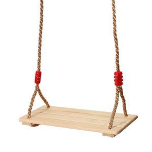 Holz Schaukelsitz Schaukelbrett Kinderschaukel Erwachsene mit Höhe Einstellbar 110cm - 230cm