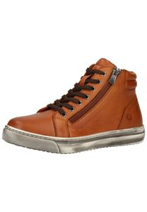 Cosmos Damen Leder Sneaker High Braun 6167-501-307, Größe 38