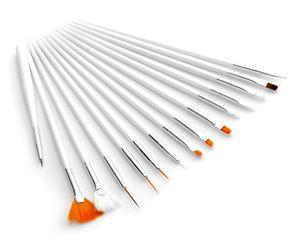 15tlg. Pinsel-Set für Gelnägel / Acrylnägel Nagelmodellage Nail Art Pinsel Acryl UV Gel Pinselset Nagel Design