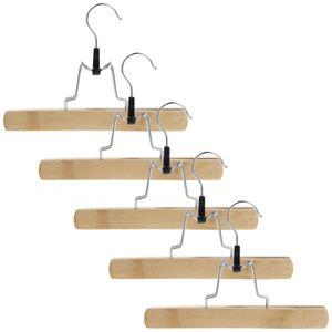 5x Klammerbügel Kleiderbügel Hosenbügel Holz Hosenspanner Rockbügel Clipbügel Hosenklemmer Hosenklemmbügel Klemmbügel