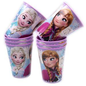 Frozen Die Eiskönigin Trinkbecher violett 8er-Set 230ml mit Anna Elsa Olaf