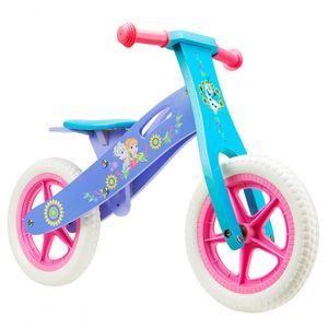 Disney Laufräder 2 Räder loopfiets Frozen 12 Zoll Mädchen Rosa/Blau