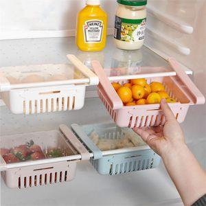 Einstellbar Küchenregal Kühlschrank Lagerregal Platzsparer Veranstalter Farbe: Blau