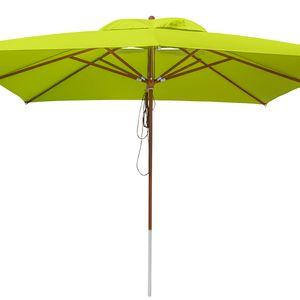 anndora Sonnenschirm 4x4 m - grün - Apfel Grün / Limette