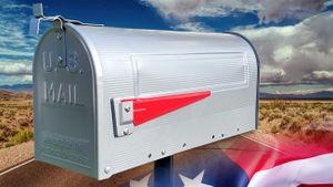US Mailbox POSTMASTER Silber Amerikanischer Briefkasten Mail Box Standbriefkasten USA